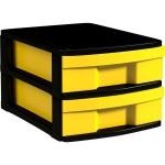 Schubladen-Container mit 2 flachen Schüben, 22x30x39 cm HxBxT