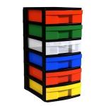Schubladen-Container mit 6 flachen Schüben, 62x30x39 cm HxBxT