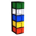 Schubladen-Container, 102 cm hoch, 30x39 cm (B/T), 1-spaltig,