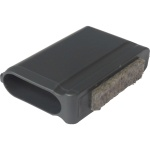 ERSATZTEIL: Fußkappe für Tisch MTH, flachoval 35 x 15 mm mit Filz (Clix)