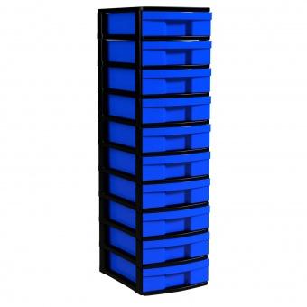 Schubladen-Container mit 10 flachen Schüben, 102x30x39 cm HxBxT
