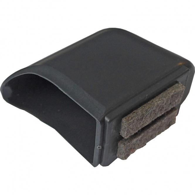 ERSATZTEIL: Fußkappe für Tisch TH, Maß flachoval 55 x 35 mm, mit Filzeinlage (Clix)